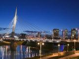 Esplanade Riel Pedestrian Bridge, Winnipeg, Manitoba, Canada Photographic Print by Walter Bibikow