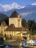 Oberhofen Castle, Lake Thun, Switzerland Photographic Print by Peter Adams