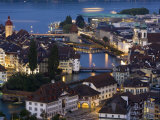Luzern Skyline, Switzerland Photographic Print by Doug Pearson