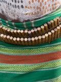 Karo Tribesman Wearing a Belt of Bullets, Lower Omo Valley, Ethiopia Photographic Print by Gavin Hellier