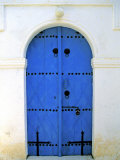 Blue Door, Karaman Village, Northern Cyprus Photographic Print by Doug Pearson