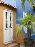 Colourful House, Willemstad, Curacao, Netherlands Antilles, Caribbean Fotoprint van Walter Bibikow