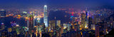 Michele Falzone - Victoria Harbour a panoráma zptačí perspektivy, Hongkong, Čína Fotografická reprodukce