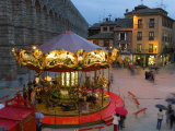 Carousel, Segovia, Castilla Y Leon, Spain Photographic Print by Peter Adams