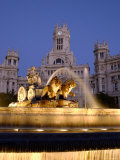 La Cibeles Fountain, Plaza de La Cibeles, Madrid, Spain Photographic Print by Alan Copson