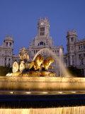 La Cibeles Fountain, Plaza de La Cibeles, Madrid, Spain Photographic Print by Alan Copson