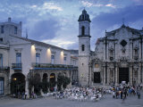 Cathedral Plaza, Havana, Cuba Photographic Print by Peter Adams