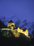 Castle at Vaduz, Liechtenstein Photographic Print by Walter Bibikow