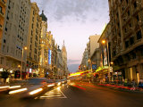 Gran Via, Madrid, Spain Photographic Print by Alan Copson