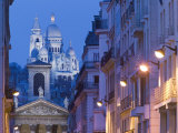 Sacre Coeur and Notre Dame de Lorette, Paris, France Photographic Print by Walter Bibikow