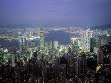 Victoria Harbour and Skyline from the Peak, Hong Kong, China Photographic Print by Jon Arnold