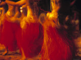 Dancers, Raratonga, Cook Islands Photographic Print by Peter Adams