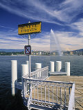 Jet d'Eau, Geneva, Switzerland Photographic Print by Jon Arnold