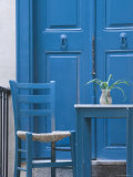 Blue Door, Venetian Quarter, Hania, Hania Province, Crete, Greece Photographic Print by Walter Bibikow