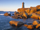 Ploumanach Lighthouse, Cote de Granit Rose, Cotes d'Amor, Brittany, France Photographic Print by Doug Pearson