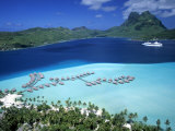 Pearl Beach Resort, Bora Bora, French Polynesia Photographic Print by Walter Bibikow