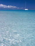 Sailboats Inside the Lagoon of Bora Bora, French Polynesia Photographic Print by Michele Falzone