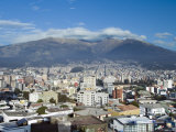 Pichincha Volcano and Quito Skyline, Ecuador Photographic Print by John Coletti