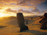 Moai Quarry, Easter Island, Chile Photographic Print by Walter Bibikow