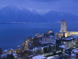 Montreux and Lake Geneva, Switzerland Photographic Print by Walter Bibikow