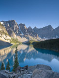 Moraine Lake and Valley of Peaks at Sunrise, Banff National Park, Alberta, Canada Photographic Print by Michele Falzone