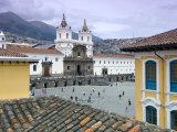 Monastery of San Francisco, Plaza San Francisco, Quito, Ecuador Fotografie-Druck von John Coletti