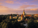 Old Town from Toompea, Tallinn, Estonia Photographic Print by Jon Arnold