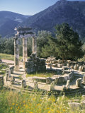 Sanctuary of Athena Pronaia, Delphi, Greece Fotografie-Druck von Peter Adams