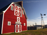 Red Barn, North Battleford, Saskatchewan, Canada Photographic Print by Walter Bibikow