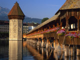 Wasserturm and Kapellbrucke, Luzern, Switzerland Photographic Print by Gavin Hellier