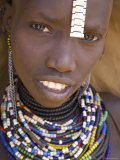 Portrait of a Girl of the Galeb Tribe, Lower Omo Valley, Ethiopia Photographic Print by Gavin Hellier