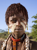 Hamer Woman, Hamer Tribe, Lower Omo Valley, Southern Ethiopia Photographic Print by Gavin Hellier
