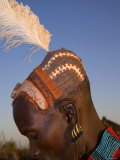 Hamer Tribesman, Hamer Tribe, Lower Omo Valley, Turmi, Southern Ethiopia, Photographic Print by Gavin Hellier