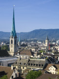 Skyline of Zurich, Switzerland Photographic Print by Doug Pearson