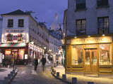 Rue Norvins and Sacre Coeur, Montmartre, Paris, France Photographic Print by Walter Bibikow