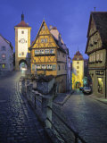 Rothenburg Ob Der Tauber, Bavaria, Germany Photographic Print by Walter Bibikow