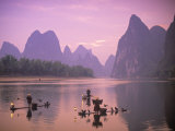 Cormorant Fishermen, Xingping, Li River, Guangxi, China Photographic Print by Peter Adams