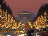 Champs Elysees, Paris, France Photographic Print by Jon Arnold