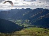 Paragliding, Jacobshorn, Davos, Graubunden, Switzerland Photographic Print by Doug Pearson