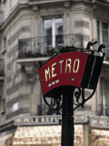 Metro Sign, Paris, France Photographic Print by Jon Arnold
