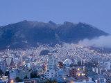Pichincha Volcano and Quito Skyline, Ecuador Fotodruck von John Coletti