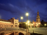 Plaza Espana, Seville, Spain Photographic Print by Jon Arnold