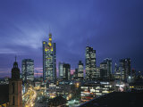 Financial District and Frankfurt Skyline, Germany Photographic Print by Jon Arnold