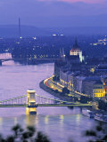Chain Bridge and Danude, Budapest, Hungary Photographic Print by Jon Arnold