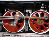 Main Wheels of Steam Locomotive, Tangshan, China Photographic Print by James Montgomery Flagg