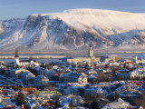 View over Reykjavik in Winter, Iceland Photographic Print by Gavin Hellier