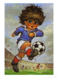Footballer Boy Posters