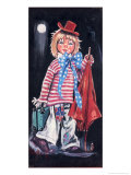 Retro Clown in Moonlight Poster