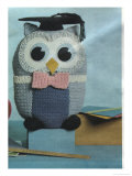 Kitsch Knitted Owl Poster
