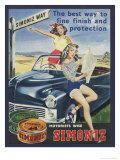 Simoniz Girls on Car Poster